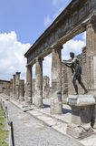 Tempel av Apollo i Pompeii Royaltyfri Fotografi
