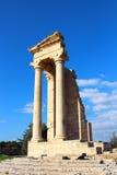 Tempel av Apollo nära Limassol, Cypern Royaltyfria Bilder
