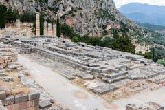 Tempel av Apollo på Delphi Arkivbild