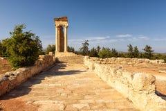 Tempel av Apollo på solnedgången, Limassol område, Cypern Arkivbilder