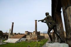 Tempel av Apollo, Pompei, Italien Royaltyfri Foto