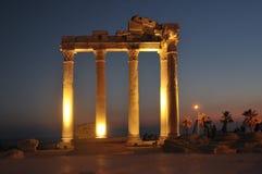 Tempel av Apollo. Sida Turkiet Royaltyfria Foton