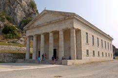 Tempel av Artemis, Korfu Grekland Arkivfoton