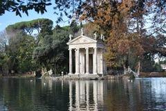 Tempel av Asclepius, villa Borghese, Rome Italien arkivbild