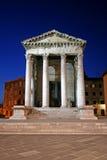 Tempel av Augustus i Pula Royaltyfri Fotografi