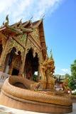 Tempel av buddhism, Thailand Arkivbild