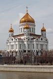 Tempel av christ frälsaren i moscow Arkivfoton