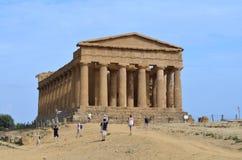 Tempel av Concordia royaltyfria foton