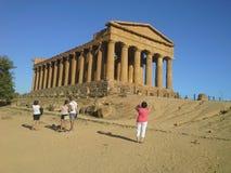 Tempel av Concordia Agrigento Royaltyfri Bild