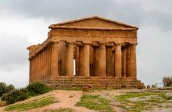 Tempel av Concordia, Agrigento, Sicilien, Italien Royaltyfri Foto
