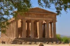 Tempel av Concordia - Agrigento - Sicilien - Italien Royaltyfri Fotografi