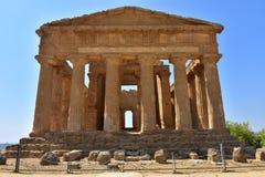 Tempel av Concordia - Agrigento - Sicilien - Italien Royaltyfria Bilder