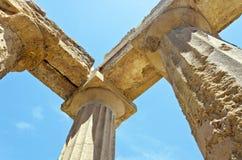 Tempel av Concordia - dal av tempelen Arkivbilder