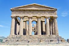 Tempel av Concordia - dal av tempelen Arkivbild