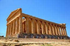 Tempel av Concordia i Agrigento. Royaltyfri Foto