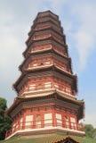 Tempel av de sex Banyanträden Guangzhou Kina Royaltyfri Foto