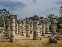 Tempel av de tusen krigarna, Chichen-Itza, Mexico Arkivfoton