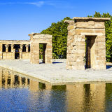 Tempel av Debod Madrid Royaltyfria Bilder
