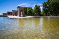 Tempel av Debod, Madrid, Spanien - UNESCO Arkivbild