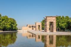 Tempel av Debod, Parque del Oeste, Madrid, Spanien Royaltyfri Fotografi