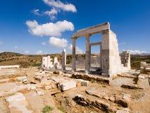 Tempel av demeteren, Naxos ö Royaltyfri Foto