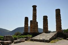 Tempel av den Apollo ingången royaltyfri bild