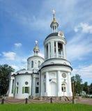 Tempel av den Blachernitissa symbolen i Kuzminki, Moskva Arkivfoto