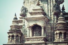 Tempel av den Durbar fyrkanten i Bhaktapur, Katmandu, Nepal Fotografering för Bildbyråer