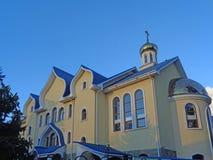 Tempel av den heliga anden - den ortodoxa kyrkan i Adler, Ryssland Fotografering för Bildbyråer