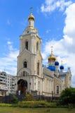 Tempel av den Kazan symbolen av modern av guden i Rostov-On-Don, Ryssland Royaltyfri Foto
