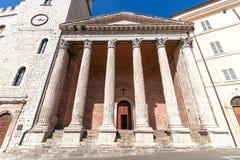 Tempel av den Minerva Chiesa di Santa Maria sopraen Minerva en Unesc royaltyfri fotografi