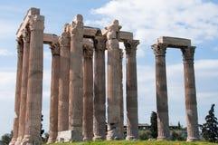 Tempel av den olympiska zeusen Royaltyfria Bilder