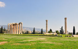 Tempel av den olympiska zeusen Royaltyfri Fotografi