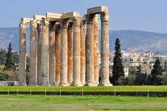 Tempel av den olympiska zeusen Royaltyfria Foton