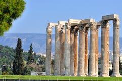 Tempel av den olympiska zeusen Arkivfoton