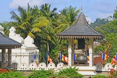 Tempel av den sakrala tandreliken, Kandy, Sri Lanka Royaltyfri Fotografi