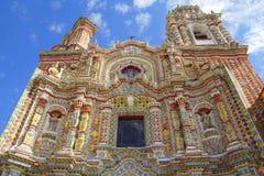 Tempel av den San Francisco acatepecdroppen Arkivfoto