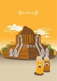 Tempel av det nordliga landskapet i Thailand Vektor Illustrationer