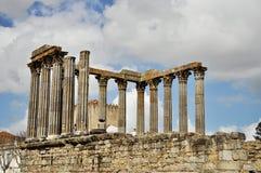 Tempel av Diana, Evora royaltyfri bild