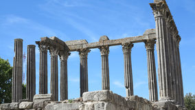 Tempel av diana, evora, Portugal Royaltyfria Bilder