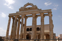 Tempel av Diana i Merida (Spanien) Royaltyfri Bild