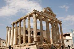 Tempel av Diana i Merida (Spanien) Fotografering för Bildbyråer