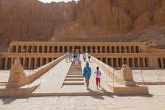 Tempel av drottningen Hatshepsut Arkivfoton