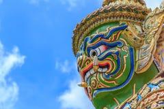 Tempel av Emerald Buddha eller Wat Phra Kaew, storslagen slott, Bangkok, Thailand Fotografering för Bildbyråer