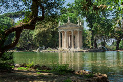 Tempel av Esculapio Arkivfoto