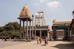 Tempel av femna Rathas i Kanchipuram, Indien Arkivbilder