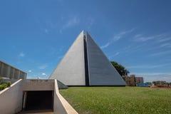 Tempel av goodwill - den Templo da boaen Vontade - Brasilia, federala Distrito, Brasilien royaltyfri foto