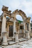 Tempel av Hadrian, Ephesus Royaltyfria Foton