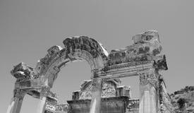 Tempel av Hadrian, Ephesus, Turkiet, Royaltyfri Foto