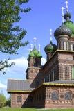 Tempel av halshuggningen av John The Baptist i staden av Yaroslavl, Ryssland arkivbild
